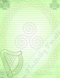 Lined Stationery Paper Celtic Stationery Page Stationery Paper Celtic Knots Lined 16
