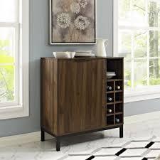home bar furniture modern. Walker Edison Bar Cabinet With Wine Storage - Dark Walnut Home Furniture Modern I