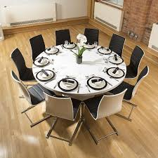 10 Dining Room Table Extra Large Round White Corian Top Dining Table 10 Dining Chairs