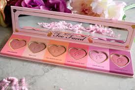too faced love flush blush too faced love flush blush wardrobe blush palette