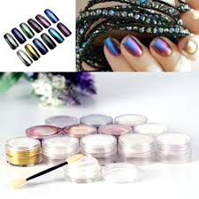 New Mirror Chrome Effect Nails Powder 3g With 2 Brush Tool Nail ...