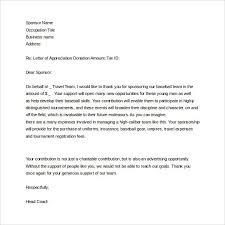 Thank You Letter To Sponsor To Download Sponsorship Letter