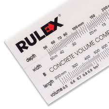 Concrete Measuring Chart Rulex Concrete Volume Calculator Slide Chart