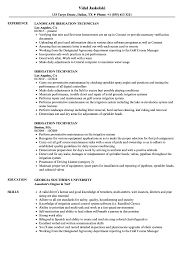 Irrigation Technician Resume Irrigation Technician Resume Samples Velvet Jobs 1