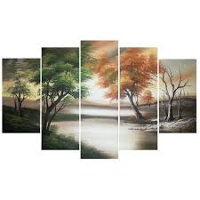 >design art changing seasons canvas large nature wall art  design art changing seasons canvas large nature wall art overstock