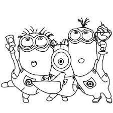 Small Picture Kevin the Minion and Laser Gun in Despicable Me Coloring Page