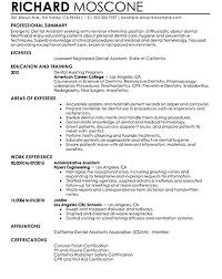 Example Of A Dental Assistant Resume Resume Web