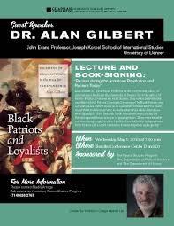 book signing flyer lecture and book signing with dr alan gilbert wilkinson college