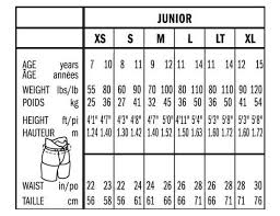 Junior Pants Size Chart Bauer Supreme 190 Ice Hockey Pant Shell Junior
