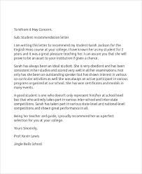 Intern Recommendation Letter Sample 9 Sample Recommendation Letters Doc Pdf