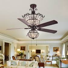 Bedroom ceiling fans Childrens Charla 4light Crystal 5blade 52inch Chandelier Ceiling Fan optional Menards Top Product Reviews For Fanimation Studio Collection Vintere Aged