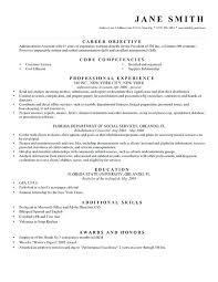 Example Objective Resume Sample Career Objectives Resume Objective