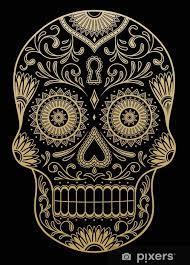 color sugar skull sticker pixers