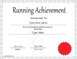 Fun Run Certificate Template Fun Run Template Amartyasen Co