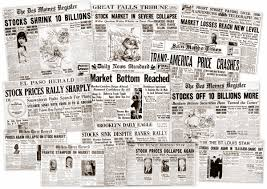 1800 Newspaper Template The Great Depression Newspaper Headlines From The Stock