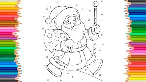 Santa Claus Coloring Pages L Merry Christmas And Happy New Year