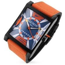 tender men s orange rubber strap date watch locman polyvore tender men s orange rubber strap date watch locman