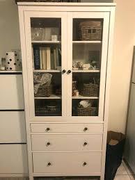 glass door cabinet w 3 drawers for in ca ikea hemnes