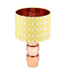 Vibrant <b>African</b> lampshade with <b>yellow geometric pattern</b> Aluro <b>Yellow</b>