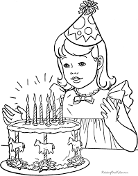 Beautiful happy birthday coloring pages for your child. Free Printable Happy Birthday Coloring Pages Coloring Home