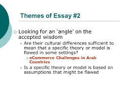 thematic independent studies lecture essay ppt video themes of essay 2 looking for an angle on the accepted wisdom