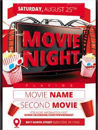 Free Movie Night Flyer Templates Movie Flyer Template Word Movie Flyer Template Download 144