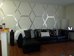 Small Picture accent wall using my geometric skills some foil tape DIY