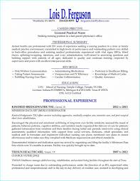New Nurse Resume No Experience Sample Resume For Rn With One Year Experience Resume