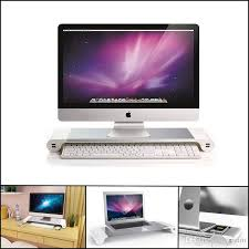 Macbook Pro Display Stand Magnificent Premium Aluminum Monitor Stand Space Bar Dock Desk Riser 32 Usb Ports