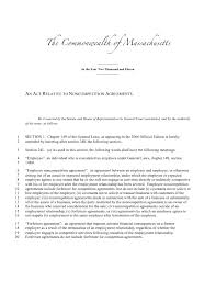 massachusetts noncompete bill refiled fair competition law the