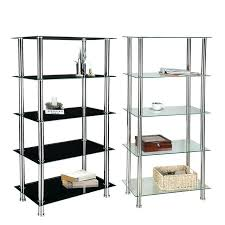 three tier glass shelving unit chrome ikea uk glass shelving unit black
