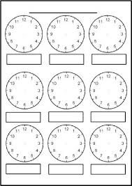 Maths Clock Worksheets Ks1 Hands Template Printable Free Clocks For