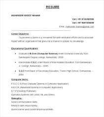 Resume Format Downloads New Resume Format Best Resume Formats Free