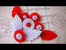 diy simple home decor wall decoration hanging flower paper craft ideas d3