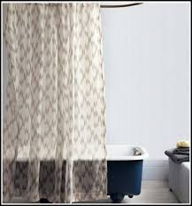 delighted sheer fabric shower curtains gallery bathtub for