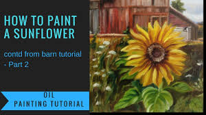 how to paint a sunflower oil painting tutorial