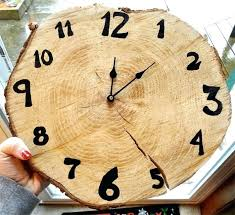 wood clock for wooden wall clocks rustic slice with black roger white w rustic wood clock white wall