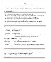 Resume Template Fresher Commily Com