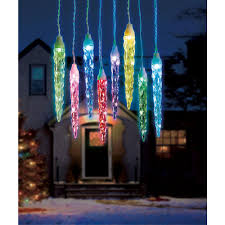 Synchro Lights Home Depot Illuminations 16 5 Ft 6 Light Color Blast Remote Controlled Large Icicle Rgb Led Lights