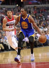 warriors kevin durant out indefinitely after left knee injury golden state warriors forward kevin durant 35 dribbles the ball past washington wizards forward