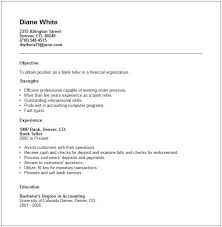 Bold Design Bank Teller Resume Skills 16 Bank Customer Service Resume  Objective In Teller ...