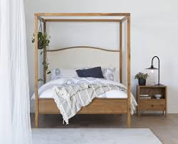 Bedroom Bamboo Canopy Bed Frame Basic Bed Frame Beautiful Canopy ...