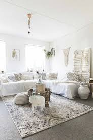 Witte Woonkamer Met Bohemian Stijl White Living Room With Bohemian