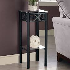 monarch specialties 28 in black indoor square glass plant stand