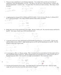 similar images for word problems using systems of linear equations worksheet 958845