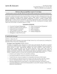 Sample Resume For Document Control Specialists New Document