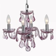 clarion collection 4 light chrome finish and pink crystal chandelier 16 d x 12