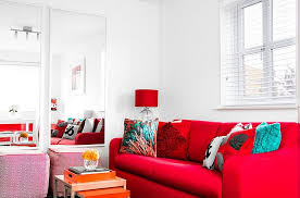 red furniture decorating ideas sets