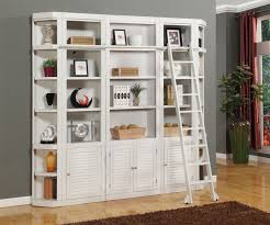 ... Amusing Wall Unit Bookcases Bookshelf Wall Diy White Shelves Cabinets  With Ladder: ...