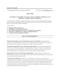 Resume For Sales Clerk Sugarflesh